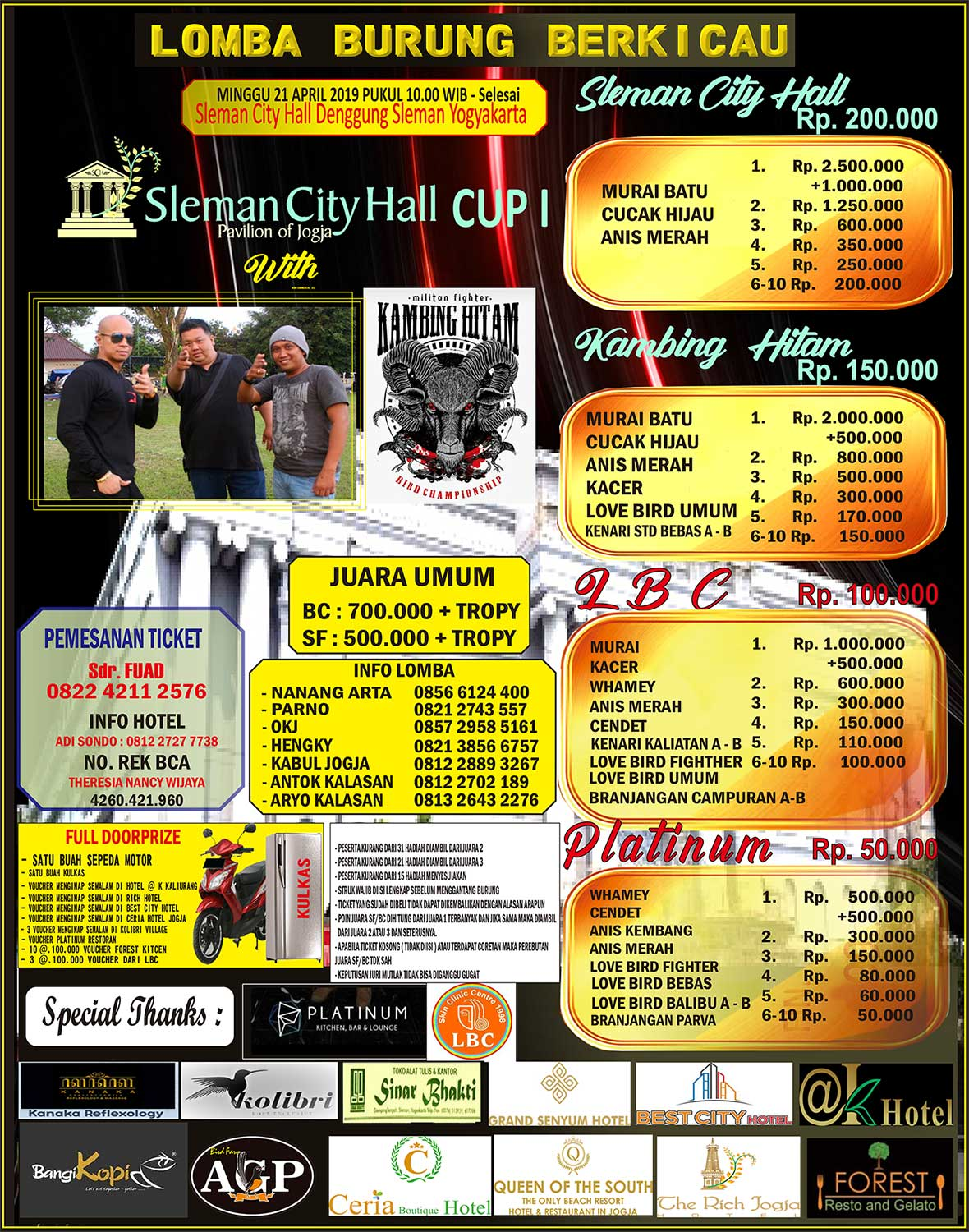 BROSUR SLEMAN CITY HALL CUP 1