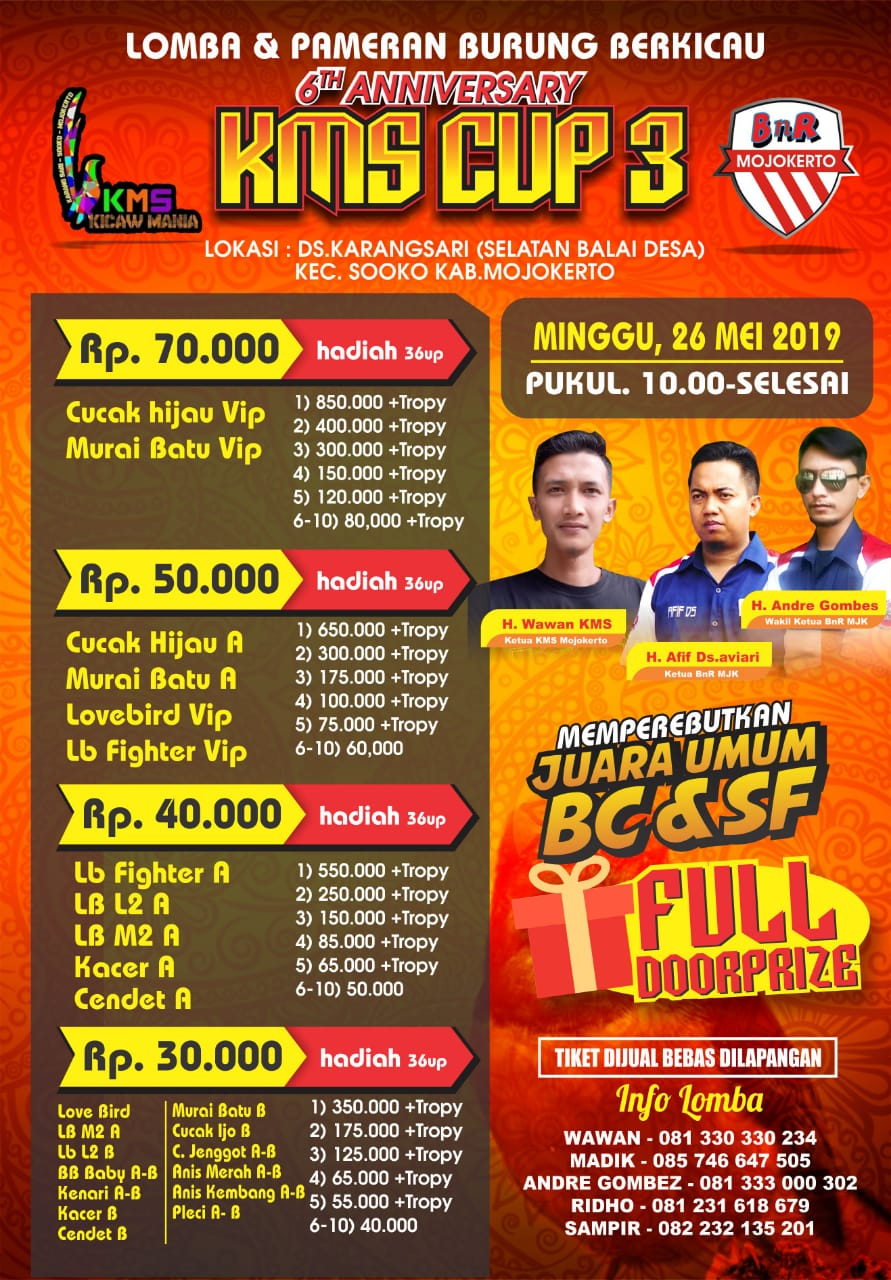 BROSUR 6TH ANNIVERSARY KMS CUP 3