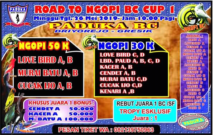 BROSUR ROAD TO NGOPI BC CUP I