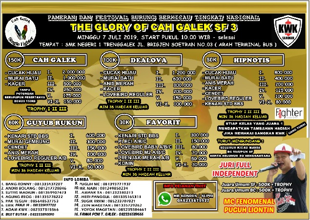 BROSUR THE GLORY OF CAH GALEK SF 3, TRENGGALEK