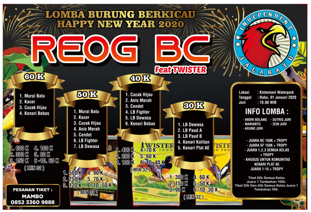 HAPPY NEW YEAR 2020 REOG BC PONOROGO FEAT TWISTER