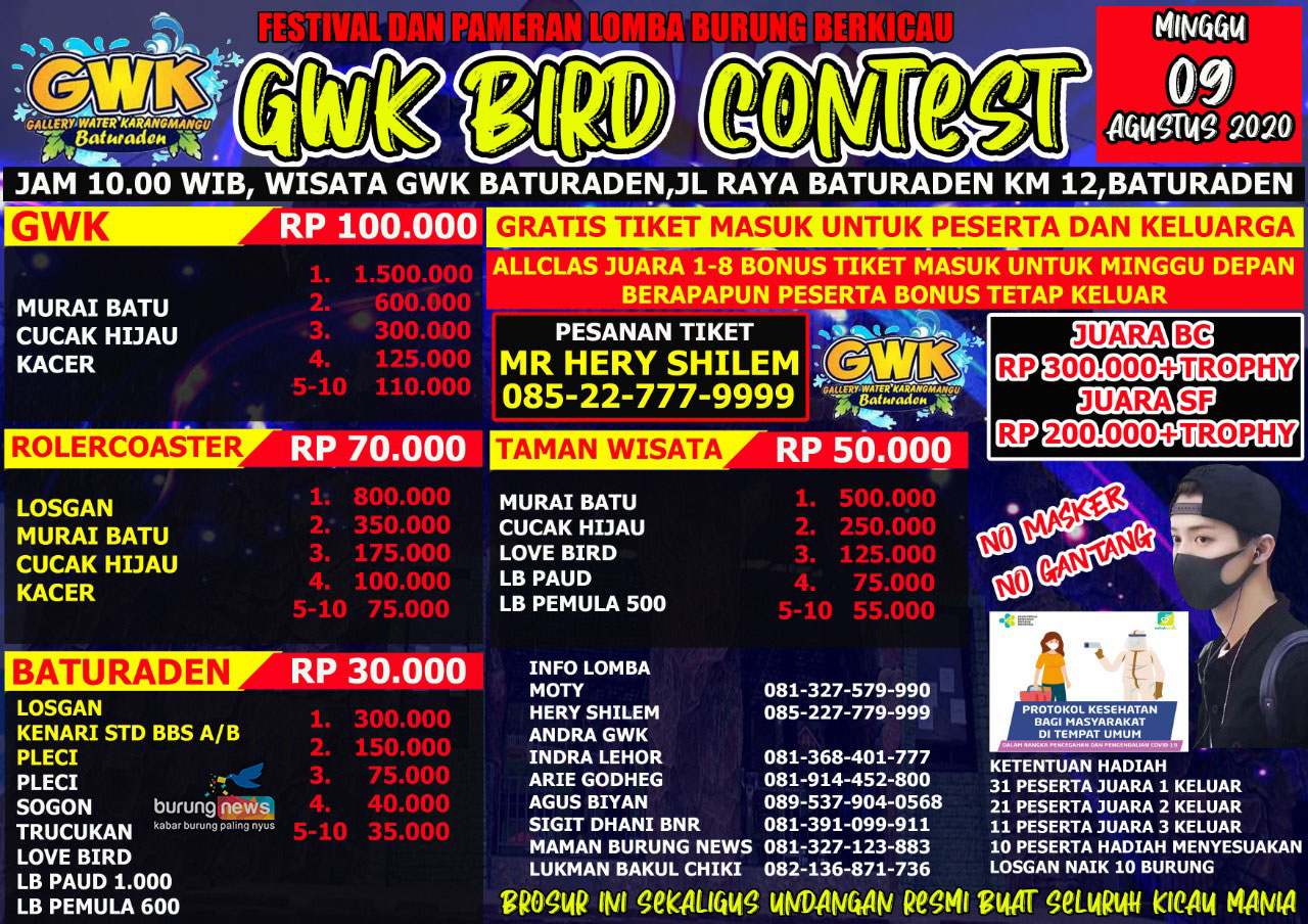 BROSUR GWK BIRD CONTEST