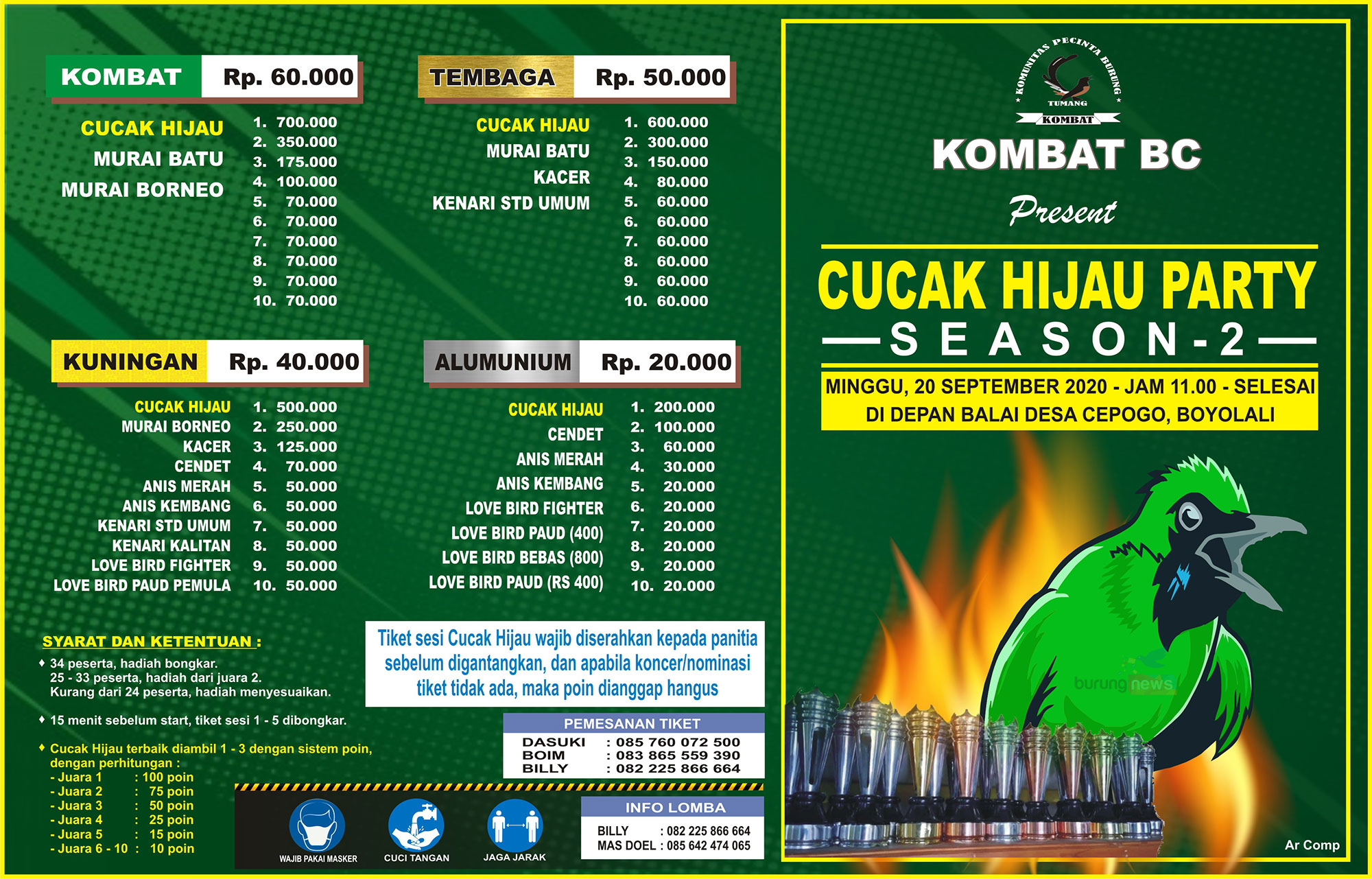BROSUR CUCAK HIJAU PARTY SEASON 2