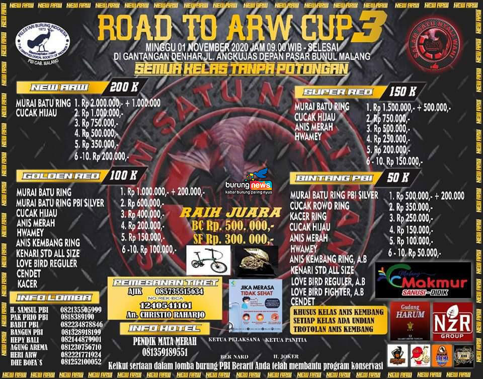 BROSUR ROAD TO ARW CUP 3
