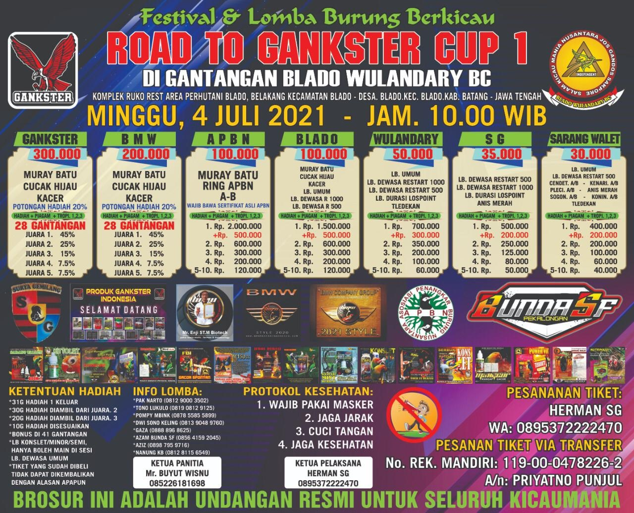 BROSUR ROAD TO GANKSTER CUP 1