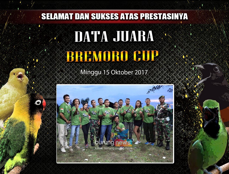 DATA JUARA BREMORO CUP SOLO, MINGGU 15 OKTOBER 2017 ...